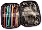Generic Crochet Hooks, Aluminium, Multi-Colour, 22-Piece