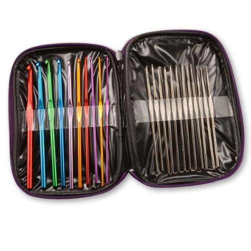 generic-crochet-hooks-aluminium-multi-colour-22-piece