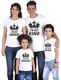 Traje de Manga Corta con Estampado Familiar de King Queen Prince Princess Ropa Estampada Entre Padres e Hijos Daddy Mommy…
