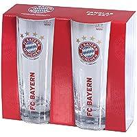 Glas / Trinkglas / Fanglas 2er Set FCB 2er Set FC Bayern MÜNCHEN Munich - Glas, Bierglas, mug, jug, jarra, cruche