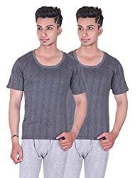Zimfit Gents Thermal Half-Sleeve - Pack of 2(HS60_34)