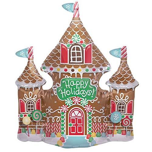 NorthStar Balloons Ballon mylar Noël maison en pain d'épices