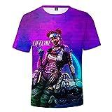 COKIMONL Apex Legends Estive Girocollo Puro Colore Stampa Manica Corta per Uomini e Donne T-Shirt Top