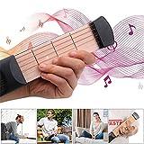 FOONEE Entraîneur de Guitare de Poche, Mini Corde Portable en Bois de Poche, entraînement de Guitare de Voyage Silencieux pour Les Enfants ou Les Adultes