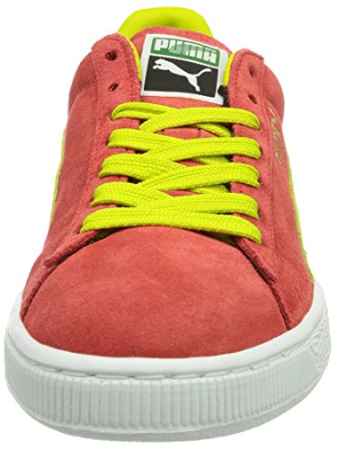 Puma Suede Classic+ , Baskets Mode Mixte Adulte, Rouge Rouge (Flame Scarlet/Sulphur Spring)