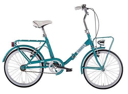 MBM A N G E L A, Bici Pieghevole Unisex - Adulto, Turchese A33, 20'