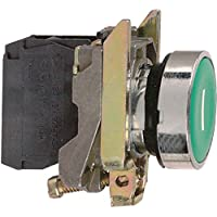 Schneider Electric xb4ba31Interruptor de Industrial, Harmony XB4Series, SPST-NO, momentáneo Spring Return, abrazadera de tornillo