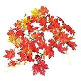 Er Fen Han Han Herbst Künstliche Fall Maple Leaf Garland Autumn Leaves für Home Decor Party Dekoration Hochzeit, 5Fuß