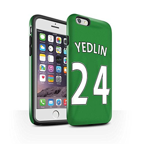 Offiziell Sunderland AFC Hülle / Glanz Harten Stoßfest Case für Apple iPhone 6 / Pack 24pcs Muster / SAFC Trikot Away 15/16 Kollektion Yedlin