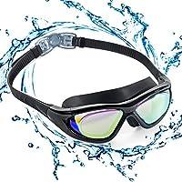Occhialini da nuoto con montatura grande, ZetHot COLORI AGGIORNATI 2018, Polarizzati. Occhialini da nuoto, anti-perdita, Anti-appannamneto Protezione UV Occhiali da nuoto Triathlon per adulti Uomini Donne Bambini Giovani Bebé