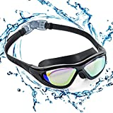 ZetHot Gafas De Natación De Marco Amplio, Gafas para Nadar Gafas De Natación Antigoteo, Antiniebla...