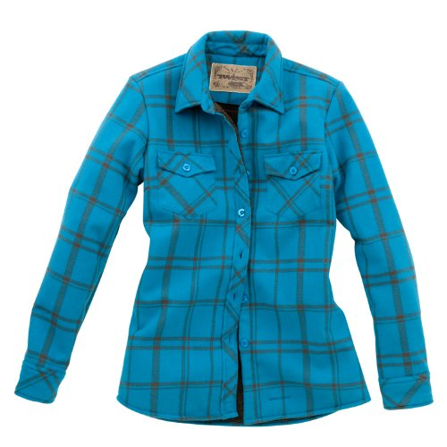Twist Damen Bandera Shirt Jacke, damen, Teal/Dark Horse Plaid (Flanell Teal Plaid)