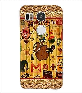 PrintDhaba Graffiti D-5097 Back Case Cover for LG NEXUS 5X (Multi-Coloured)