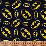 Dc Comics Batman Zeichen - 100% Basteln Baumwolle Bedruckter Stoff - 1 metre