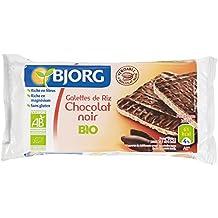 Bjorg Tortitas de Arroz Integral, con Chocolate Negro - Paquete de 16 x 100 gr - Total: 1600 gr
