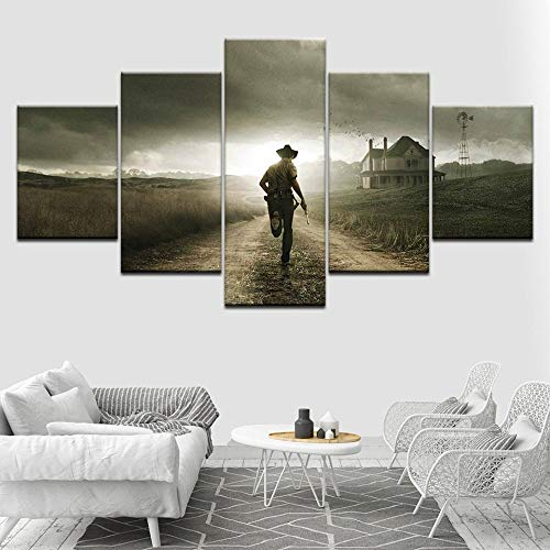 ZUMOOY 5 Paneles Zombie The Walking Dead Pinturas