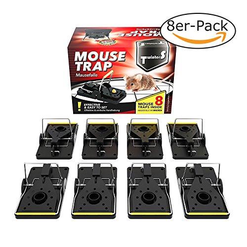 TwinterS - Profi-Mäusefalle zur Schädlingsbekämpfung, hygienisch aus Kunststoff ** 1 Falle KOSTENLOS (Maus)