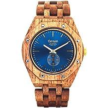 Premium en bois horloge Tense Mens North Washington (fabriqué en Canada)–Noix de Beurre bois–Montre Homme j5845bn de bl
