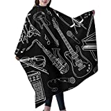 Coupe-cheveux tablier cape de robe de robe, Professional Barber Supplies Outline Blues Guitar Piano Cape Cover Cloak Hair Dyed Hair Waterproof Cloth Anti-Static Hairdressing
