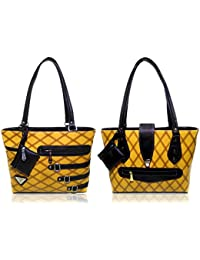 AZED Collections   Combo Of Two Shoulder Handbags   Yellow & Yellow Colour   For Women