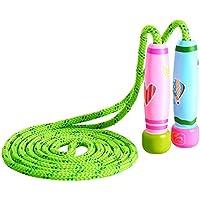 KONVINIT Cuerda para Saltar con Mango de Madera Colorido para niños Cuerda de Salto Ajustable de 102 Pulgadas para Fitness y pérdida de Grasa
