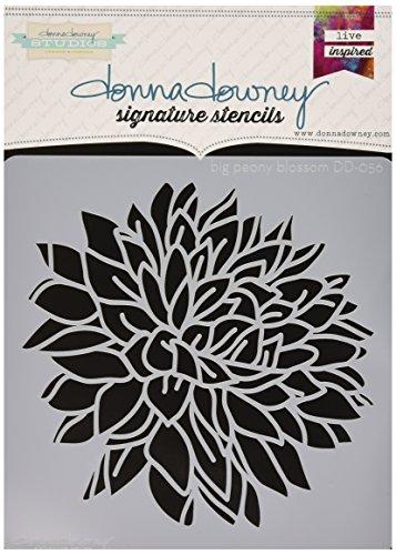 Donna Downey Stencils Stampo fiore di peonia,