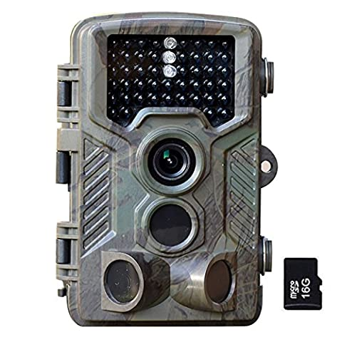 [New Version] 16MP Trail Camera - Flinelife 1080P HD Infrared Game&Wildlife Camera 46 Pcs IR LEDs 120°Wide Angle Night Vision 2.4
