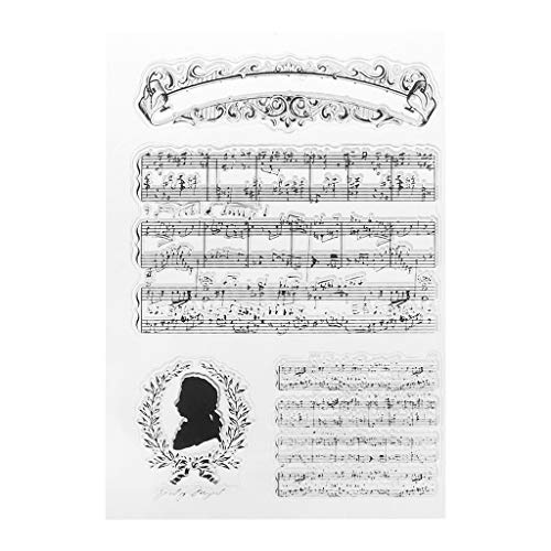 Cuigu Silicone Transparent Stamp Joint De Musique de Piano DIY Scrapbook Gaufrage Album Décor Artisana