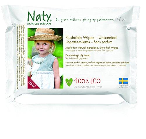 Naty by Nature Babycare Öko Feuchter Toilettentücher, 12er Pack (12 x 42 Stück) - 5