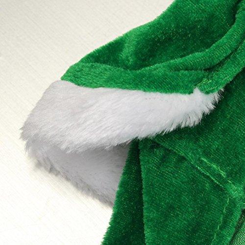 Imagen de ropa para perros, internet árbol de navidad mascota perro abrigo de gato ropa de suéter cachorro disfraces ropa linda verde, xl  alternativa