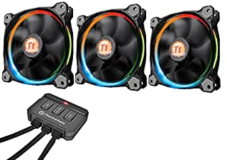 Thermaltake Riing12 Led RGB Fan 256 Colour 120 mm with Switch - Black (Pack of 3) (B014HXS16K) | Amazon Products