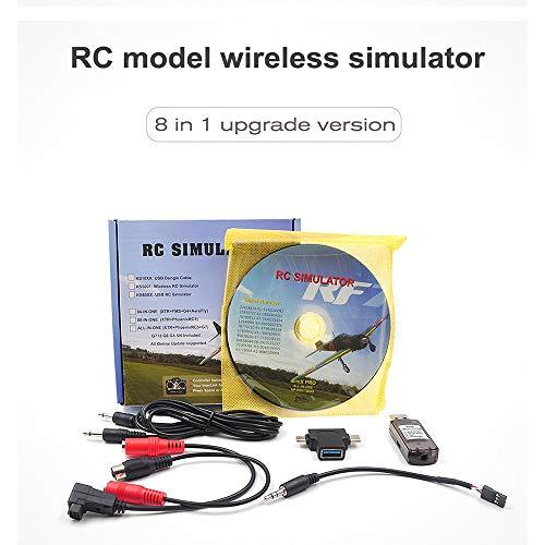 Festnight 8-in-1 RC Flight Simulator Wireless Simulator per Flysky i6x FUTABA Radiolink AT9s AT10