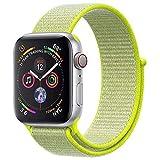 ANBEY für Apple Watch Armband 38mm 40mm 42mm 44mm, Geeignet für iWatch Apple Watch Serie 4, Serie 3, Serie 2, Serie 1, Nylon Sportschlaufenband Ersatzarmband Pale Green 38/40mm