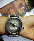 Handgelenk Kompass Armbanduhr by Euphoria Handgelenk Kompass Leder strap nautical Handgelenk watch solid Messing maritime Antik Nautik Kompass Vintage Stil Kompass mit Lederband.