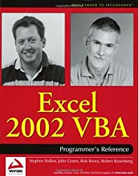 Excel 2002 VBA: Programmers Reference by Rob Bovey (2001-09-26)