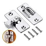 Coardor in acciaio INOX 90gradi ad angolo retto fibbia gancio serratura bullone con 4viti per porta scorrevole, serrature Hardware Bolt domestici accessori