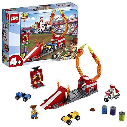 LEGO 4+ Toy Story 4: Espectáculo Acrobático de Duke Caboom, Juguete de Construcción, Incluye Motocicleta de Juguete y Rampa de Saltos (10767)
