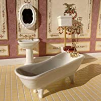 The Dolls House Emporium White Classic Bathroom, 4 Pcs 1:12 scale