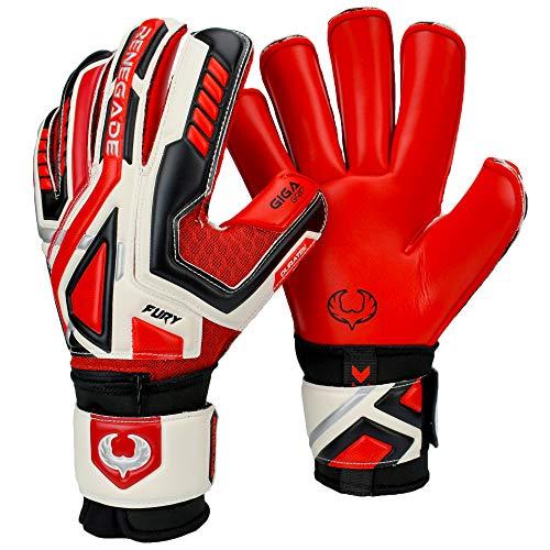 erno Größe 8 Roll Cut Torwart Handschuhe Neuer mit Fingerschutz 3+3MM Rot Deutscher Giga Grip (Champion Level 4) - 30 Tage Garantie - Jugendliche ()