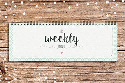 Pagina Calendario Settimanale.My Weekly Planer Verde Calendario Da Tavolo Agenda