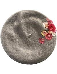 effdd22bc7902 The Cap Factory s Hand Embroidered Designer European Beret Cap For  Women Girls (Honey Dew