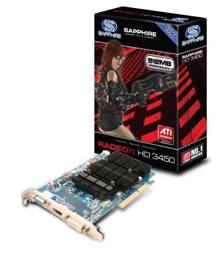 Sapphire Radeon HD 3450 Grafikkarte (512MB GDDR2 Speicher, DVI-I / HDMI / VGA, 1 GPU) Lite Retail
