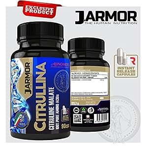 Integratore J.Armor Citrullina 90 cps da 1369 mg - Vigore sessuale Ossido nitrico Nox massa muscolare Prodotto con sigillo olografico numerato