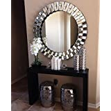 Venetian Design Globus Wall Mirror Size 26x26 | Living Room Mirror | Decorative Mirror | Modern Mirror | 100% Heart Made Products | Get A Ivory White Photo Frame Worth Rs 2,200/- Absolutely Free With This Wall Mirror
