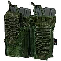 Oslotex Doble Kanguro M4 Pouch de Airsoft, Unisex Adulto, Verde Militar, Talla Única