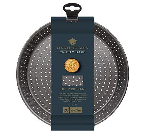 prezzo Master Class KCMCCB15 – Teglia rotonda da forno antiaderente per cucinare flan/quiche croccanti e morbide, colore: grigio, diametro: 23 cm