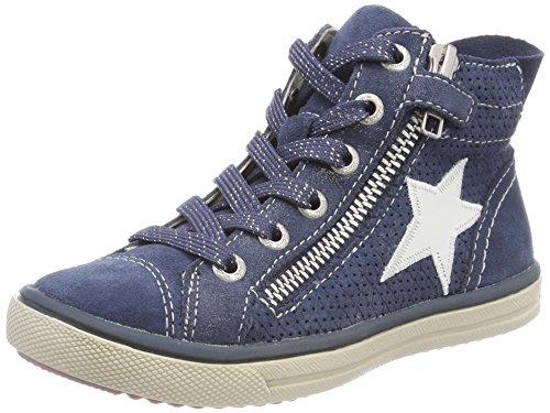 Lurchi Mädchen Saskia Stiefel Blau (Jeans) 27 EU