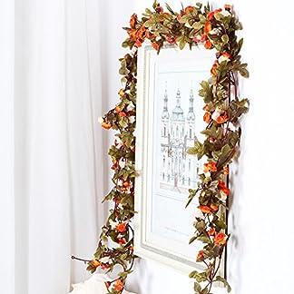 Guirnalda de flores artificiales con hojas verdes, paquete con 3 unidades para decoración del hogar, boda, dos colores, rosa
