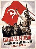 WAR SPANISH CIVIL HAMMER SICKLE SOVIET COMMUNIST ANTI FASCIST AFICHE CARTEL IMPRIMIR POSTER ART 2863PY