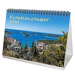 Kroatienzauber DIN A5 Tischkalender 2020 Kroatien Geschenk-Set: Zusätzlich 1 Grußkarte und 1 Weihnachtskarte - Seelenzauber